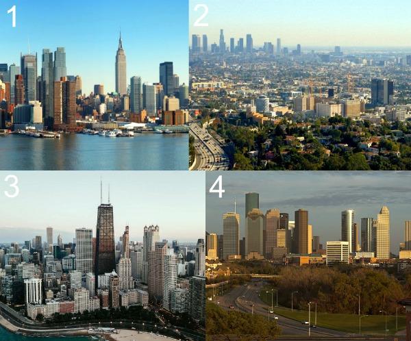 Крупнейшие города США