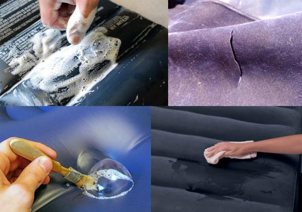Как найти прокол на надувном матрасе