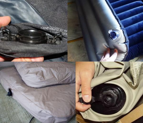 Как заклеить клапан надувного матраса