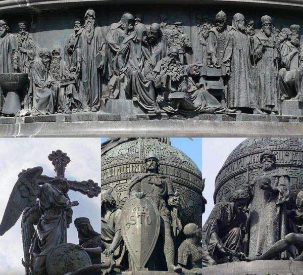 Кто на памятнике Тысячелетие России