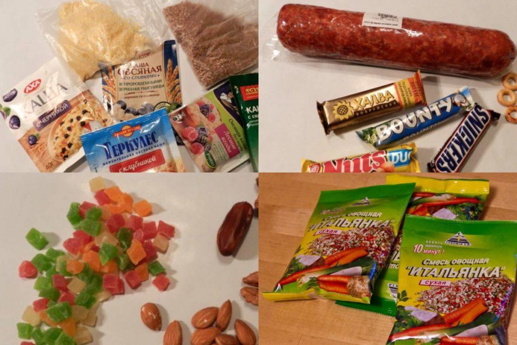 Список продуктов для похода